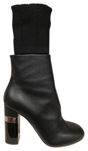 Chanel Kangaroo Leather Sock Stiletto black Boots