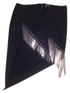 Anthony Vaccarello Assymetric Skirt BLACK
