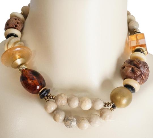 Preload https://item1.tradesy.com/images/brown-tans-vintage-japanese-ojime-netsuke-and-gemstone-bead-necklace-2052050-0-2.jpg?width=440&height=440
