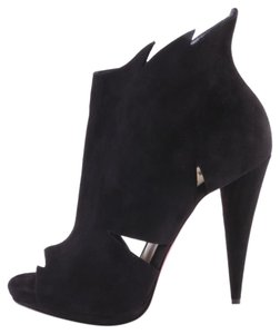 Christian Louboutin Belfeconica Suede Cut Out Black Boots