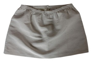 Erin Fetherston Mini Party Structured Mini Skirt Ivory + Gold