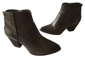 Frye Renee Seam Short Ankle Dark Brown Boots