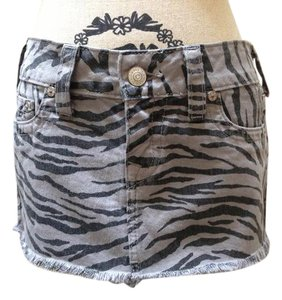 True Religion Mini Mini Skirt Zebra