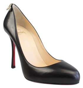 Christian Louboutin Very Gemma Sexy Black Gold Bow Pumps