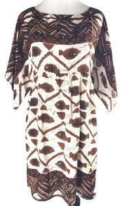 Anna Sui short dress Brown & Beige on Tradesy