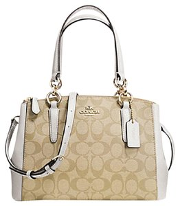 Coach Madison 36718 Christie Carryall Satchel in chalk white