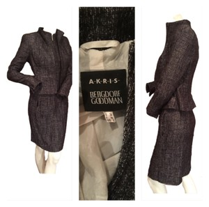 Akris Black and white tweed Blazer