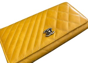 Chanel Chanel long leather wallet
