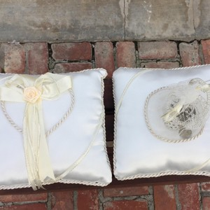Ivory And Coin Ring Bearer Pillow