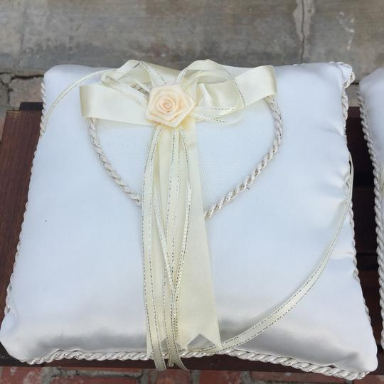 Ivory And Coin Ring Bearer Pillow Image 1