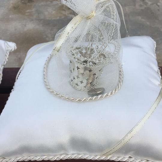 Ivory And Coin Ring Bearer Pillow Image 2