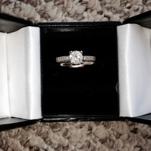 1.61kt White Gold Engagement Ring + Custom Wedding Band