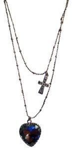 Betsey Johnson Betsey Johnson Heart Cross Necklace