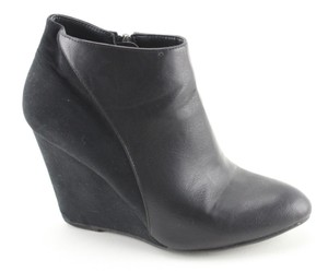 Madden Girl Fashion Suede Leather Black Boots