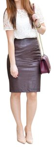Ann Taylor LOFT Leather Wear-to-work Classic Fashion Nwt Skirt Brown