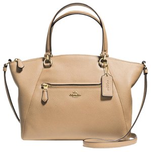 Coach Satchel in Nude - Beige