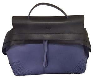 Tod's Satchel in black and periwinkle