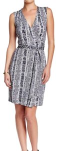 Diane von Furstenberg short dress Black, White on Tradesy