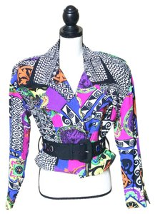Cache Vintage 90s Retro Color Multi Jacket