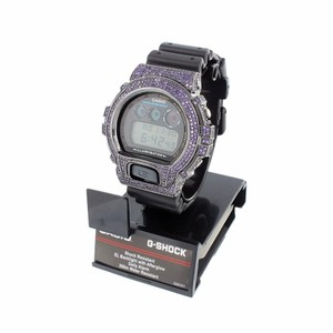 G-Shock Mens G-shock Watch Purple Lab Diamond Dw6900 Custom Silicone Band