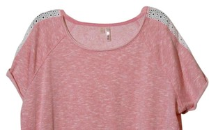 Silverware 1x 1xl Shirt Plus Lace Top Rose