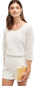 Lilka Anthropologie Eyelet Bows Dress