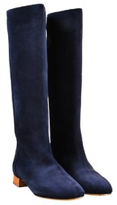 Chloé Euro Size 36 Suede Knee High Navy Blue Boots