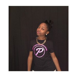 PRETTYHUSTLEGANGRICHGAME tees T Shirt pink and black
