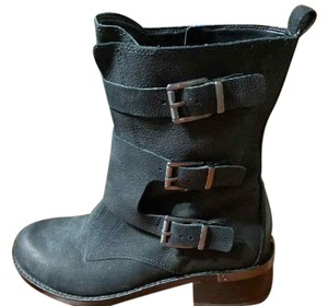 Vince Camuto Motorcycle 3-buckle Side Zip black Boots