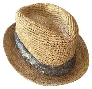 Phase 3 Straw Fedora with Sequin Band