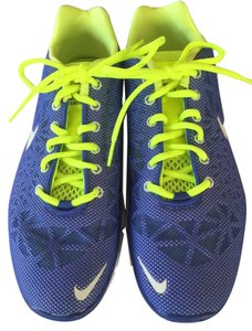 Nike Trainers Running Gym Blue, Neon Yellow, White Athletic
