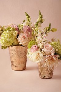 Bhldn Blush Mercury Glass Late Afternoon Vases, 2 Size L