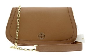 Tory Burch Chain Crossbody Messenger Bark Clutch