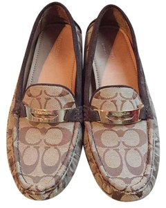 Coach tan and brown Flats