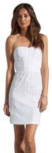 Rebecca Taylor short dress White Eyelet Strapless Structured on Tradesy