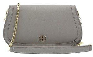 Tory Burch Chain Crossbody Messenger French Grey Clutch