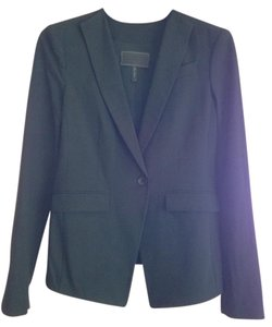 BCBGMAXAZRIA Bcbg Max Azria Womens Black Blazer Cotton Casual Jacket