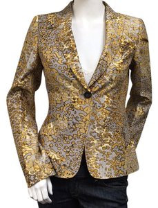 Escada Jacket Grey Gold Blazer