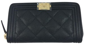Chanel NWT Chanel Black Boy Zipped Around Wallet