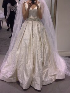 Vera Wang Brand New Double-weaved Floral Matelasse Ball Gown Wedding Dress