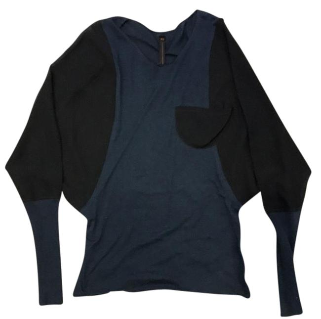 Item - Black and Midnight Blue 132018 Blouse Size 0 (XS)