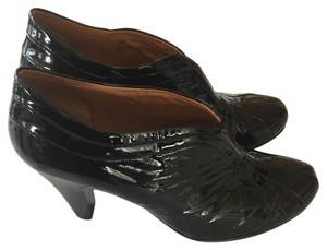 Sfft Comfortable Black Patent Leather Boots