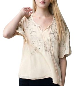 Candela Bohemian Gauze French Embroidered Nyc Top Cream
