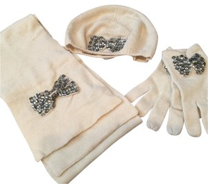 Lord & Taylor Lord and Taylor Cashmere Blend Scarf, Hat, and Gloves