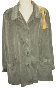 Woman Within A-line Plush Corduroy Warm green Jacket