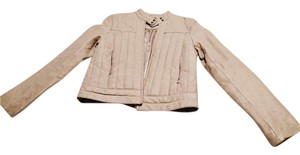 Pepe Jeans Vintage Faux Leather cream Leather Jacket