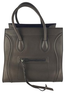 Céline Dark Brown Phantom Tote in Dark Taupe