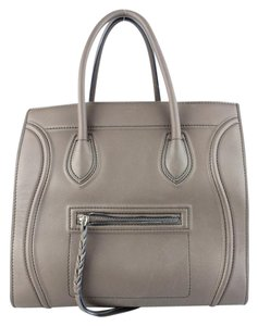 Cline Dark Brown Phantom Tote in Dark Taupe
