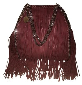 Stella McCartney Fringe Falabella Chain Strap Shoulder Bag