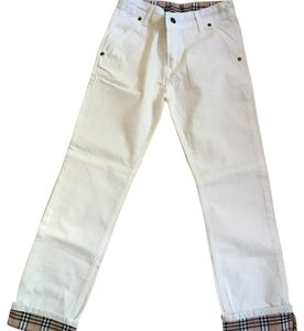 Burberry Straight Pants white